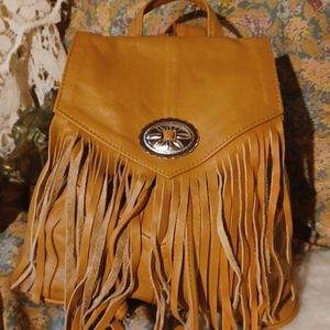 Back to school!! Leather backpack.